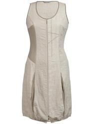 Beige Linen Zip Dress