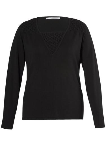 Black Smock/Bead Trim Jumper