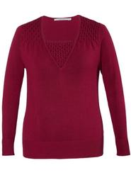 Cranberry Red Smock/Bead Trim Jumper