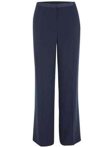 Navy Satin Back Satin Trim Trouser