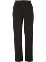 Black Pull On Flat Trouser