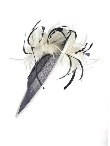 Navy/Ivory Feathers Mid Hatinator