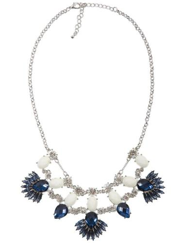 Hummingbird at Chesca Navy Jewelled Stone Necklace
